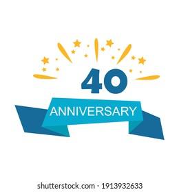 40 years anniversary celebration template vector design illustration