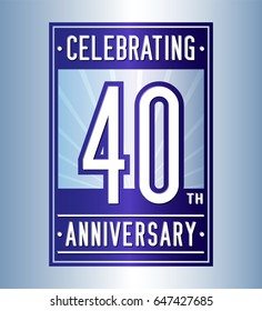 40 years anniversary design template. Vector and illustration.