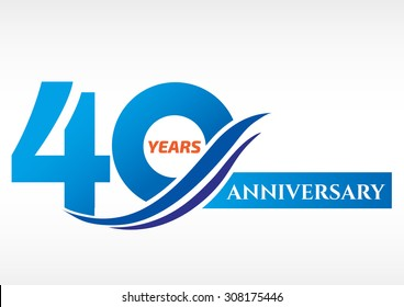 40 years anniversary Template logo