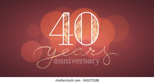 40th Birthday Card Images Stock Photos Vectors Shutterstock