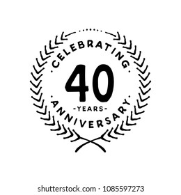 40 years design template. 40th vector and illustration.