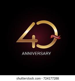 40 years golden anniversary celebration logo