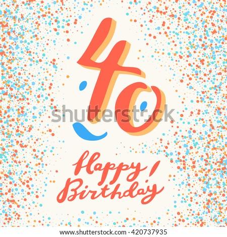 40 Years Happy Birthday Card