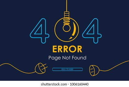 404 error page not found vector lamp graphic background