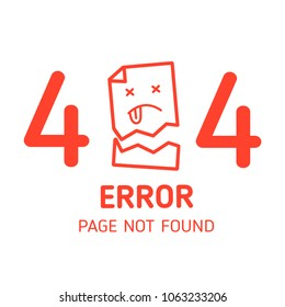 404 error page not found miss paper with white background design template for website background graphic