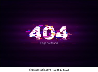 404 Error. Page Not Found. Vector Illustration.