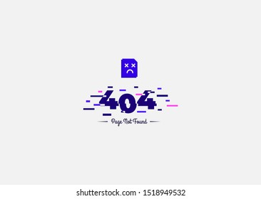 404 error page not found isolated in white background - Vector