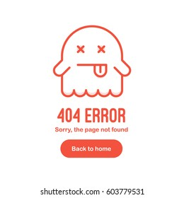 404 Error the page not found with dead ghost