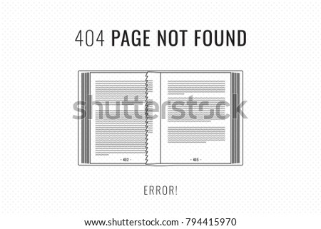 404 error page not found trendy stock vector royalty free