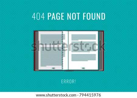 404 error page not found colored stock vector royalty free