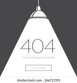 404 Error Page in retro-style