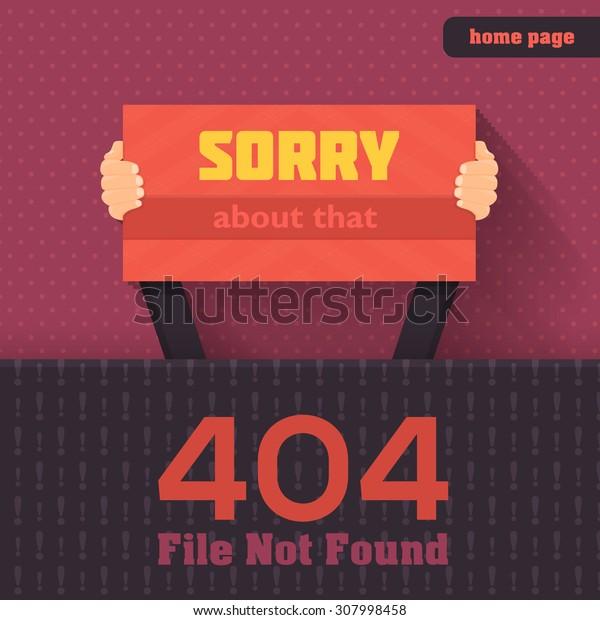 404 Error Web Page Vector Design
