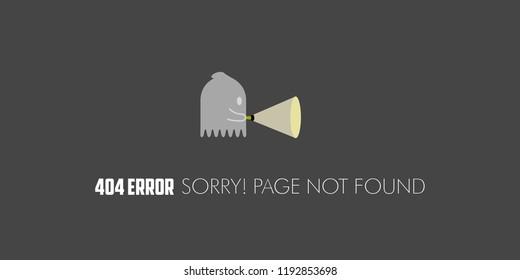 404 error website not found graphic design. Vector illustration