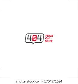 404 logo in chat square design
