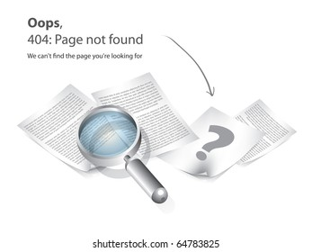 404 Page not found vector