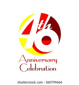 40th Anniversary Celebration - Birthday - Reunion Logo Vector Design