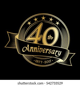 40th anniversary design template. Vector and illustration.