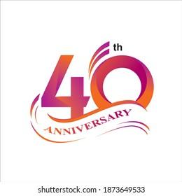 40th anniversary logo vector design