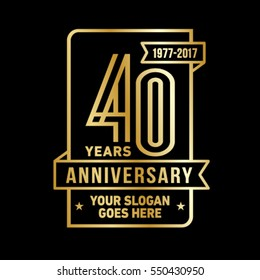 40th anniversary logo. Vector and illustration.