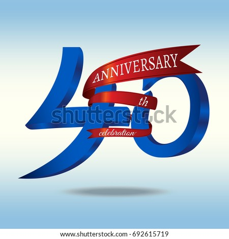 40th anniversary symbol vector stock vector royalty free 692615719