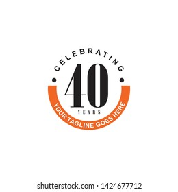 40th celebrating anniversary logo design