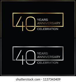 40th years anniversary celebration background