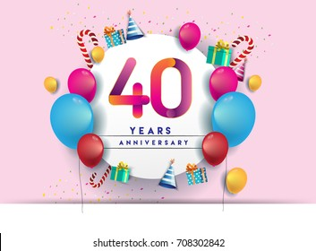 40th birthday images stock photos & vectors shutterstock