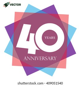 40th years anniversary label  for celebration of company