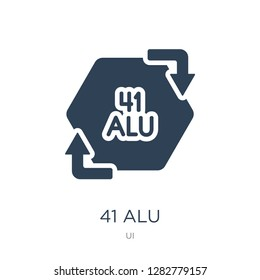 41 alu icon vector on white background, 41 alu trendy filled icons from UI collection, 41 alu vector illustration