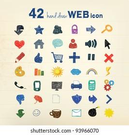 42 hand drawn vector illustration
