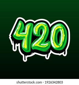 420 Cannabis Days, Detailed cannabis day 420 for Sticker, tshirt, etc.
