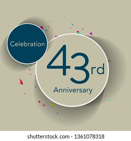 43rd anniversary logo with the classic stage, gives a simple feel but looks elegant, this design is suitable for greeting cards or invitation cards