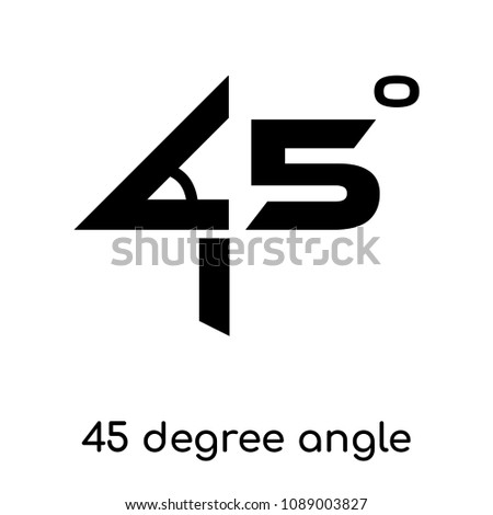 45 Degree Angle Symbol Isolated On Stock Vector Royalty Free