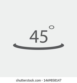 45 Degree angle vector icon illustration sign
