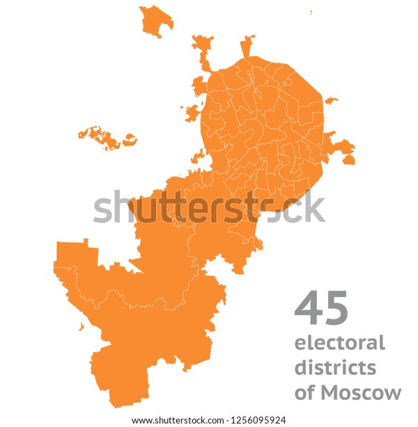 45 election districts of Moscow city
