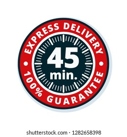 45 minutes Express Delivery illustration