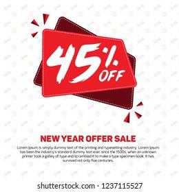 20395a050b9 45% off 45% Discount Sale Off 45% Percent off big offer 45%