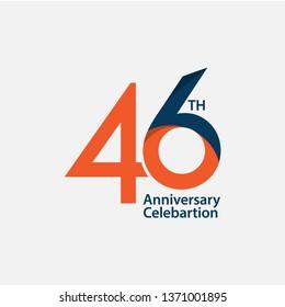 46 th Anniversary Celebration Vector Template Design Illustration