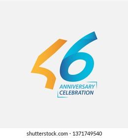 46 Year Anniversary Celebration Vector Template Design Illustration