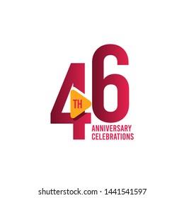 46 Years Anniversary Celebration Vector Template Design Illustration