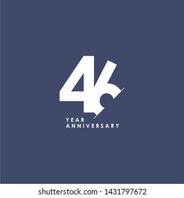 46 Years Anniversary Vector Template Design Illustration