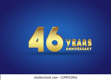 46th Anniversary numbers. background for anniversary
