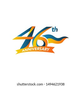 46th Years Anniversary Celebration Design Vector Template