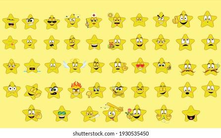 47 star emoji with yellow background
