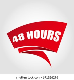 48 hours labels banners