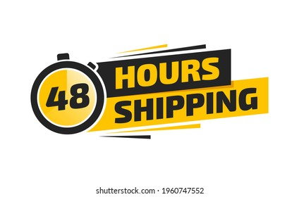 48 Hours Shipping Shopping Label