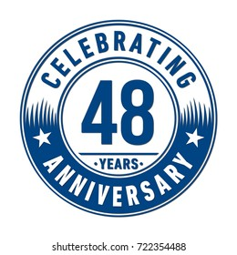 48 years anniversary logo. Vector and illustration.