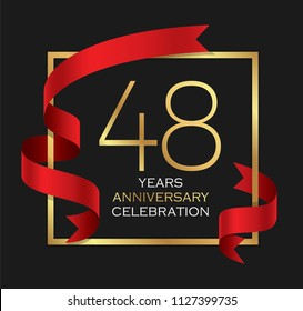48th years anniversary celebration background