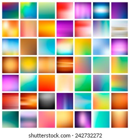 49 abstract colorful smooth blurred vector backgrounds for design