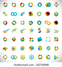 49 design elements - creative symbols collection
